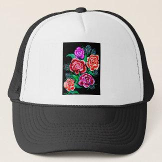 Colorful Flowers Art Trucker Hat