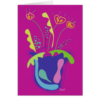 Colorful Flowers Blank Card