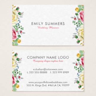 Colorful Flowers Bouquet Business Card