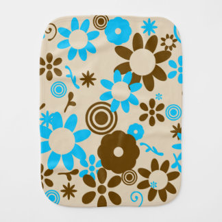 colorful flowers burp cloth