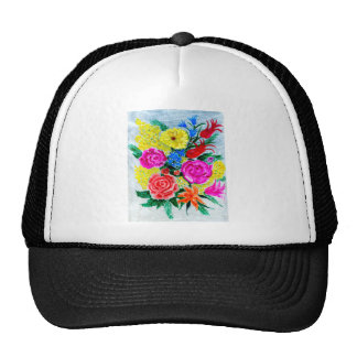 Colorful Flowers Cap