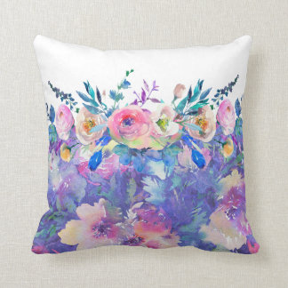 Colorful Flowers Collage Flowers Bouquet Cushion