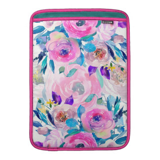 Colorful Flowers Collage Sleeve For MacBook Air
