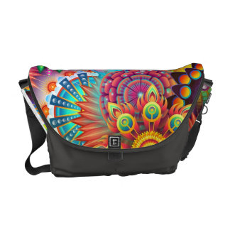 Colorful Flowers Courier Bag