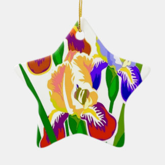 Colorful Flowers Christmas Tree Ornaments