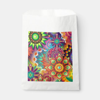 Colorful Flowers Favour Bags
