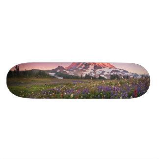 Colorful Flowers in Rainier National Park Skate Board Deck