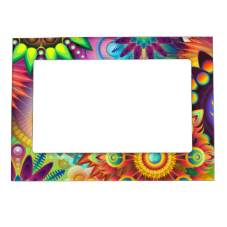 Colorful Flowers Magnetic Picture Frame