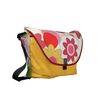 Colorful flowers messanger bag courier bags