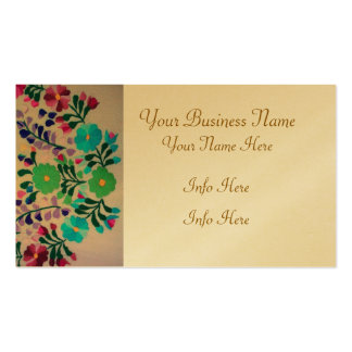 Colorful Flowers Pattern Pack Of Standard Business Cards