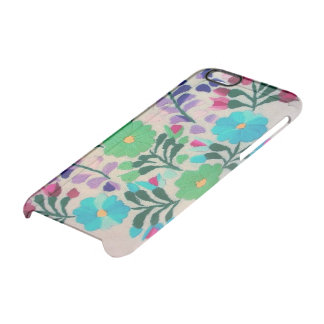 Colorful Flowers Pattern Clear iPhone 6/6S Case