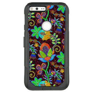 Colorful Flowers Pattern Glass-Beads Look-XL 5.5 OtterBox Commuter Google Pixel XL Case
