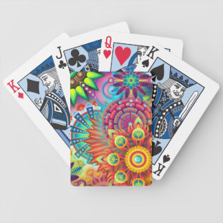 Colorful Flowers Poker Deck