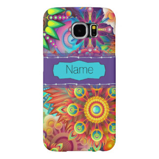 Colorful Flowers Samsung Galaxy S6 Cases