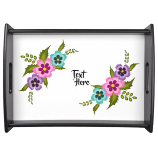 Colorful Flowers Serving Tray
