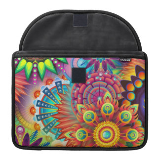 Colorful Flowers Sleeve For MacBooks