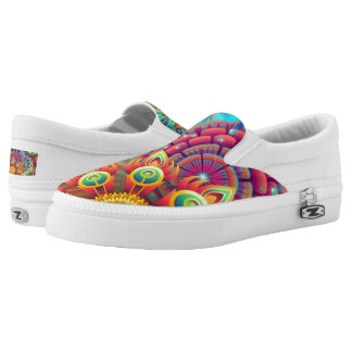 Colorful Flowers Slip-On Shoes