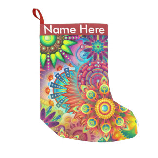 Colorful Flowers Small Christmas Stocking