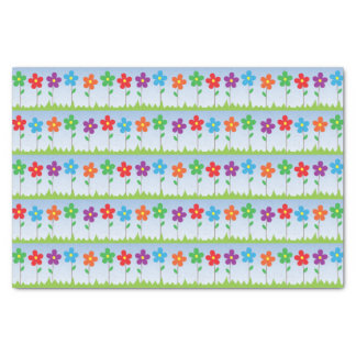 Colorful Flowers Tissue Paper