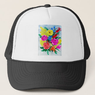 Colorful Flowers Trucker Hat