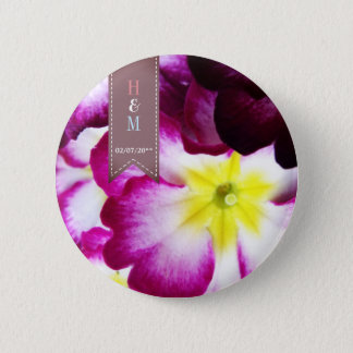 Colorful Flowers Wedding Favour button