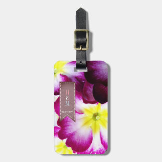 Colorful Flowers Wedding Luggage Tags Honeymoon