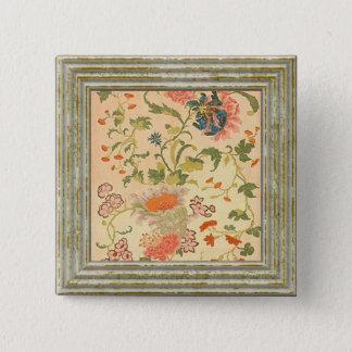 Colorful Flowers Wonderland 15 Cm Square Badge
