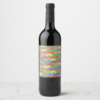 Colorful Fluctuations Wine Label