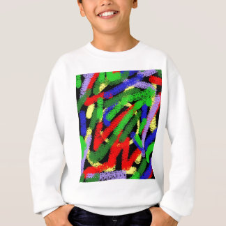 Colorful fluorescent squiggly lines sweatshirt