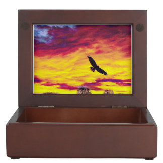 Colorful Fly Bird Fly Keepsake Box