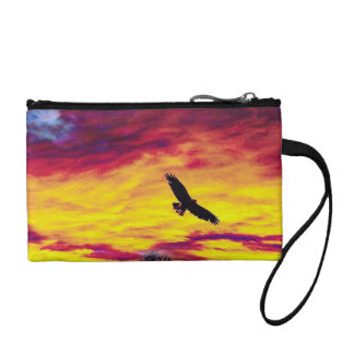 Colorful Fly Bird Fly Key Coin Clutch Coin Wallets