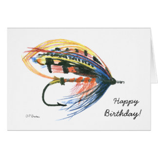 Colorful Fly Fishing Birthday Card