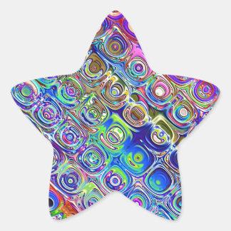 Colorful Foil Circles Star Sticker