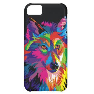 Colorful fox iPhone 5C case