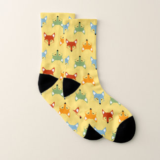 Colorful Fox On Sox 1