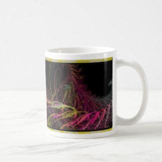 colorful fractal basic white mug