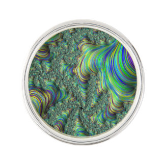 Colorful Fractal Lapel Pin