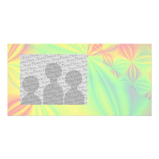Colorful Fractal Pattern. Picture Card