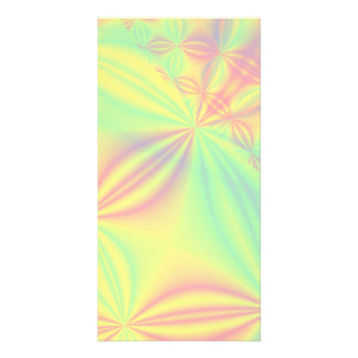 Colorful Fractal Pattern. Photo Greeting Card