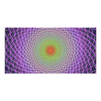 Colorful fractal photo card