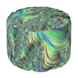 Colorful Fractal Pouf