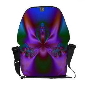 Colorful Fractal Rickshaw Messenger Messenger Bag