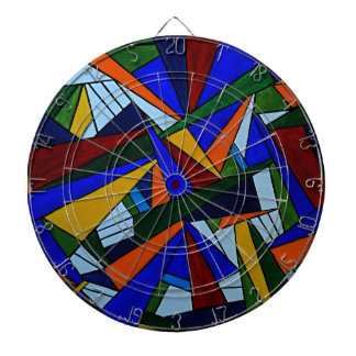Colorful Fragments Dartboard