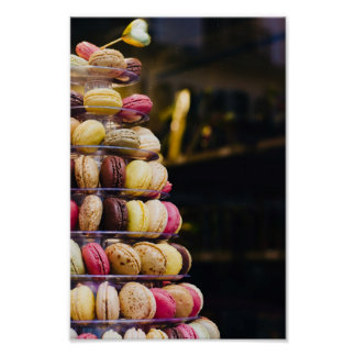 Colorful French Macarons Tower Photography Poster