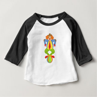 Colorful Friendly Clown Balancing On Ball In Class Baby T-Shirt