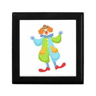 Colorful Friendly Clown In Bowler Hat In Classic O Gift Box