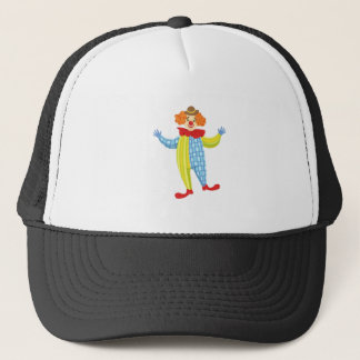 Colorful Friendly Clown In Derby Hat And Classic