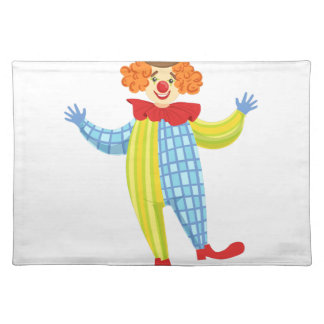Colorful Friendly Clown In Derby Hat And Classic Placemat
