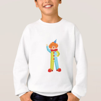 Colorful Friendly Clown In Party Hat Classic Outfi Sweatshirt