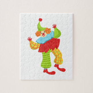 Colorful Friendly Clown In Ruffle To Classic Outfi Jigsaw Puzzle
